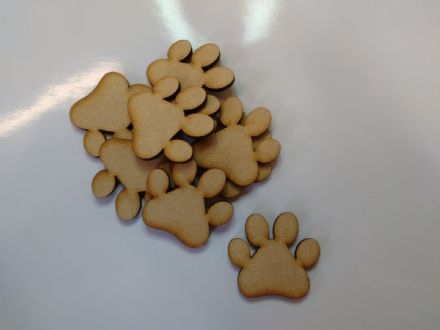 wooden craft DOG CAT PAW shapes, laser cut 3mm mdf embellishments, decoupage,